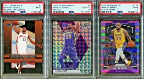 Absolute Mystery Pack Patch Auto LeBron James Prizm Silver Rookie Cards PSA 10