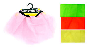 GIRLS-NEON-TUTU-SKIRT-UV-Net-Fancy-Dress-Party-One-Size-Neon-Tutu-Skirts