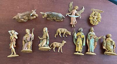 "Vintage 4"" Fontanini Depose Italy Nativity Scene Set Lot of 13 Pieces 4 Inch"