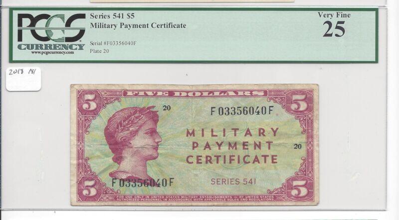 MPC Series 541  $ 5 Dollars The KEY!!  PCGS 25 VERY FINE