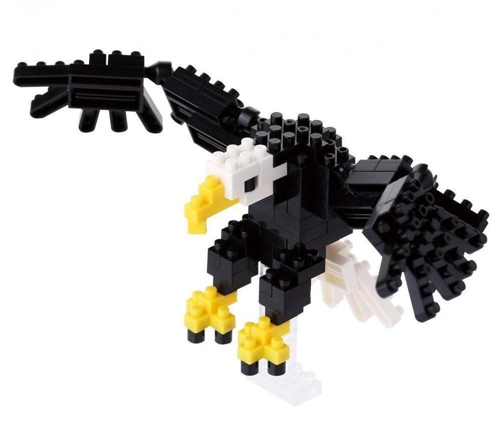*NEW* NANOBLOCK Bald Eagle Nano Block Micro-Sized Building Blocks NBC-138