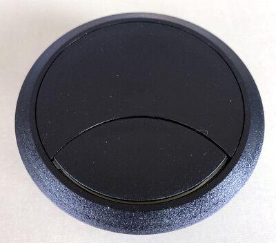 Schwarz Schreibtisch Tülle (Schwarz 80mm Computer Schreibtisch Durchführungstülle, Tisch Kabelbinder Loch)
