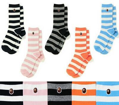 A BATHING APE Goods Men's HOOP SOCKS 5colors From Japan new