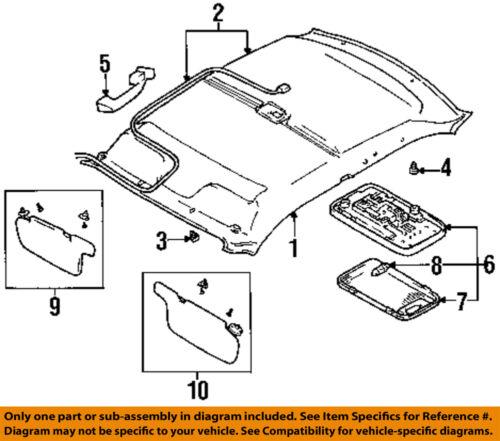GM OEM Interior-Roof-Lens 96066495