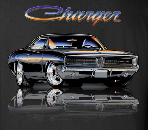 Early Dodge Charger T-Shirt  5XL 100% Cotton Preshrunk