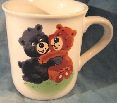 (Collectible Sweet Ceramic Hugging Teddy Bears Coffee Mug Cup Kid's Mug)