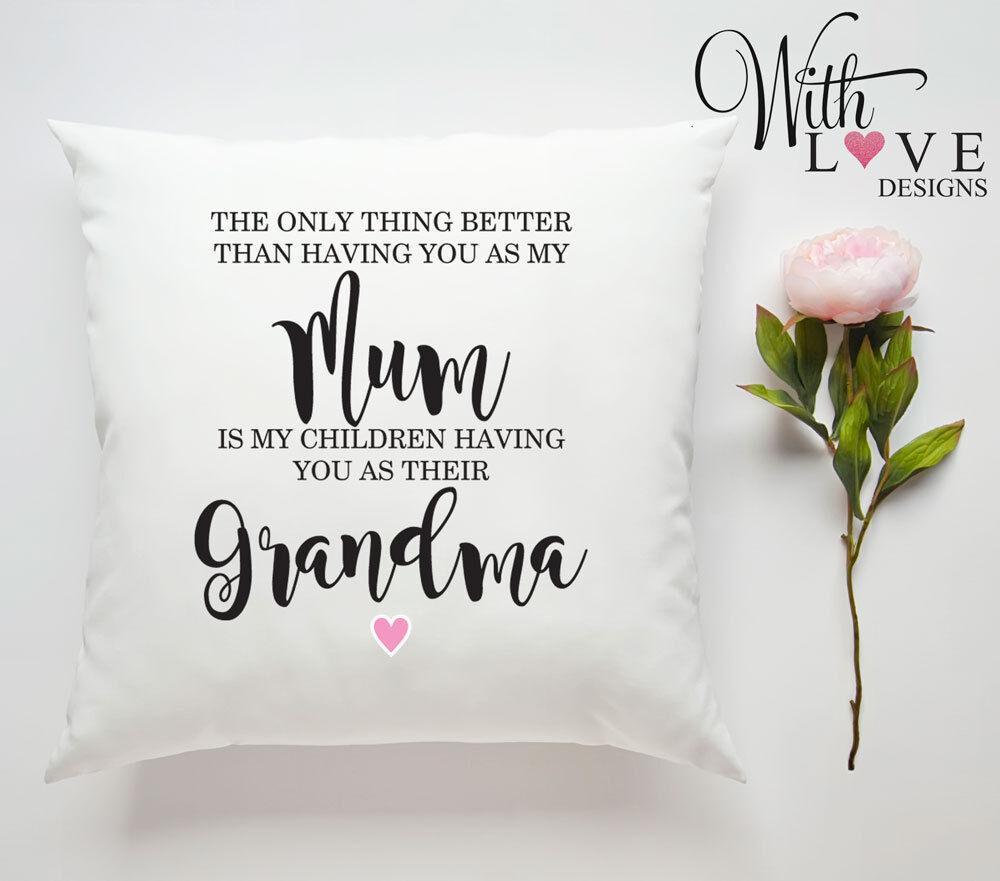 Mamie Nanny Gran Nan Photo Personnalisé Custom Oreiller Coussin Cadeau