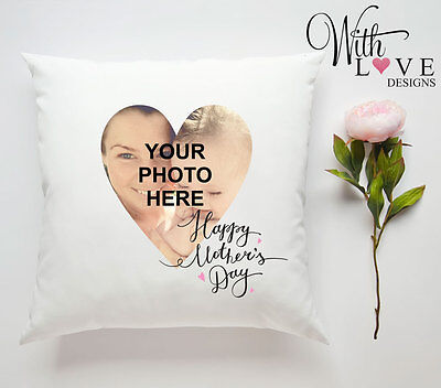 HAPPY MOTHERS DAY MUM PHOTO PERSONALISED CUSTOM PILLOW CUSHION PRESENT GIFT](Happy Mothers Day Photos)