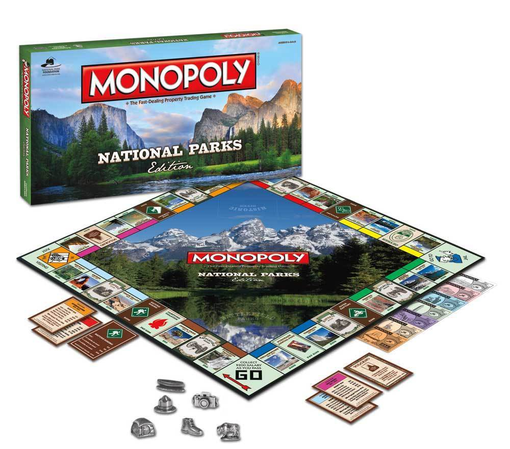 USAopoly MONOPOLY® Call Of Duty, IT, Guardians of The Galaxy, Warhammer  ... NationalParks