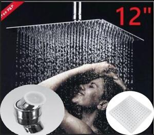12 Square Stainless Steel Rain Shower Head Chrome  - FREE SHIPPING