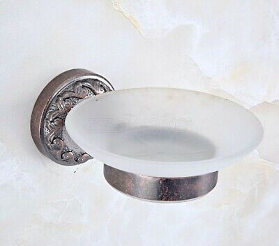 Wall Mounted Antique Copper Bathroom Soap Dish Holder Soap Basket Zba157