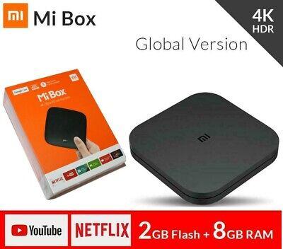 Xiaomi Mi Android TV Box 4K Ultra HDR 2+8GB Voice Search Remote WIFI Google Cast