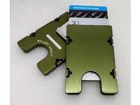 black BilletVault Wallet//Card Holder Aluminum RFID protection Police Officer
