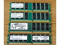 4 x DIMM RAM memory expansion cards (2 x 512Mb & 2 x 1Gb)