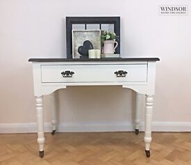 Console Table In Black and Cream with Drawer