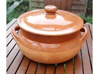Terracotta Casserole Dish with Lid