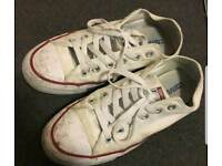 Well worn trashed converse