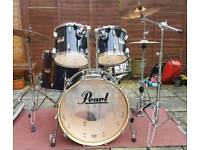 Pearl Session Series Studio drum kit with stands and Zildjian cymbals