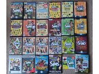 x25 The Sims 1 2 3 Huge bundle with Expansion Packs – PC and PS2 – ENG & PL