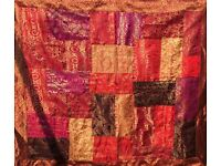 Brand New Fair Trade Patchwork Indian Brocade Wall Hanging 100 cm x 120 cm
