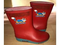 Boys red wellies size 8