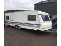 2000 TWIN AXLE HOBBY EXCELENT FIX BED SIDE DINETTE WITH AWNING AND WE CAN DELIVER