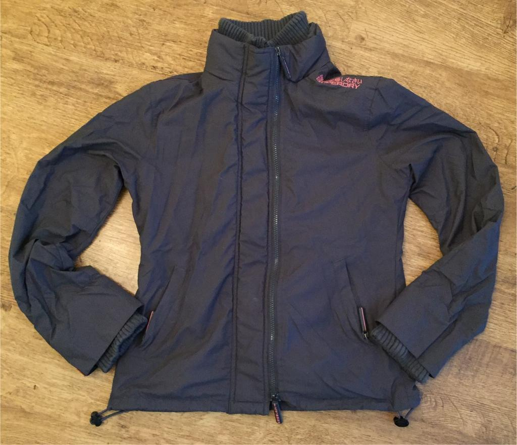 Superdry Jacket Waterproof Winter Coat Grey Pink Girls Ladies In