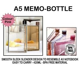 Job lot of 130 New A5 memo water bottles 420ml - 2 different colours