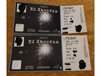 2 x Ed Sheeran Tickets seated Wembley Stadium Friday 15th June £50 per ticket