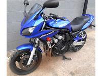Yamaha FZS600 Fazer 2002 FSH Stainless Exhausts Hugger Datatool. 2 owners, full MOT Bandit Hornet