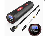 Oasser Tyre Inflator Air Compressor Electric Air Pump 12V AC/DC with 2000 mAh Rechargeable