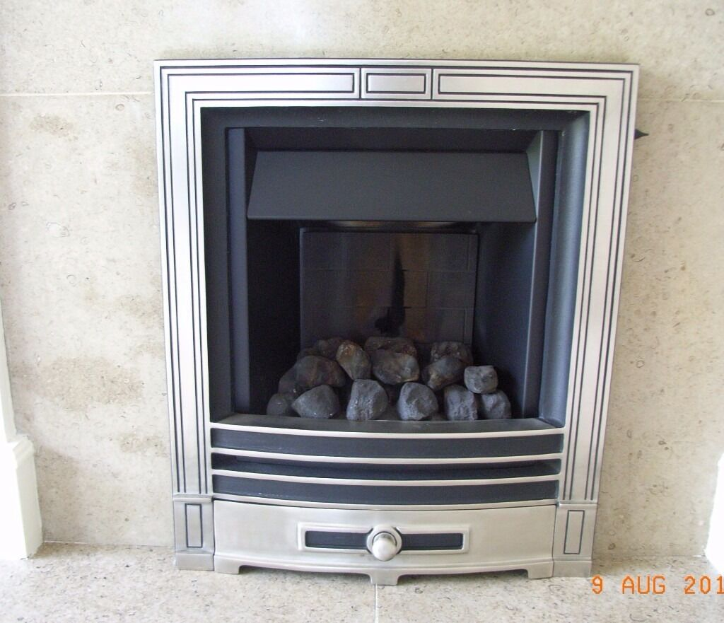 Baxi Gas Fire Type 748 Opulent With Stone Hearth In