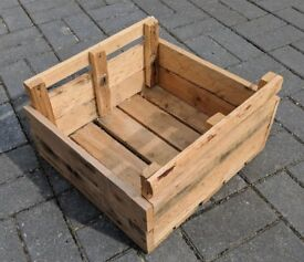Hand-Made Rustic Wooden VEGETABLE or FRUIT TRAY / TRUG