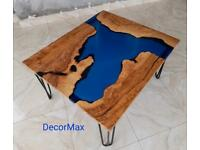 Epoxy Olive wooden Coffee table