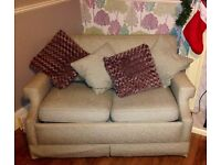 Lovely duck egg blue and cream sofa bed
