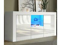 *BRAND NEW* Modern TV Cabinet Sideboard Unit Cupboard - White