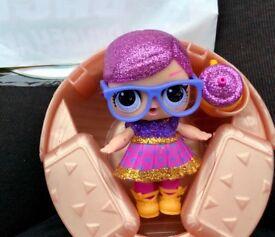 Sleeping b.b lol doll brand new glitter series