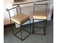 Wrought Iron Pub / Bar Stools / Chairs x 4