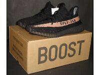 Adidas Yeezy Boost 350 V2 BLACK / COPPER UK 6 EU 39.3 US 6.5 Kanye West NEW 100% Genuine Authentic