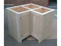 Solid Pine L-shape Corner Unit with Bi-Fold door
