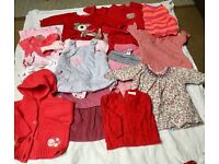 Large baby girl up to 3 months clothing