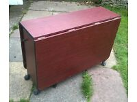 FREE TO COLLECT - MAHOGANY EFFECT FOLDING TABLE