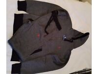 NEW RALPH LAUREN MEN FULL TRACKSUIT HOODIE & TROUSER WITH ZIP POCKET -BLACK- SIZE: S, M & L