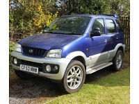 2003 Daihatsu Terios 4WD Sport. Good looking, cheap to run/insure 4x4 for the winter
