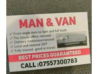 Man and Van removal services cheapest in Manchester