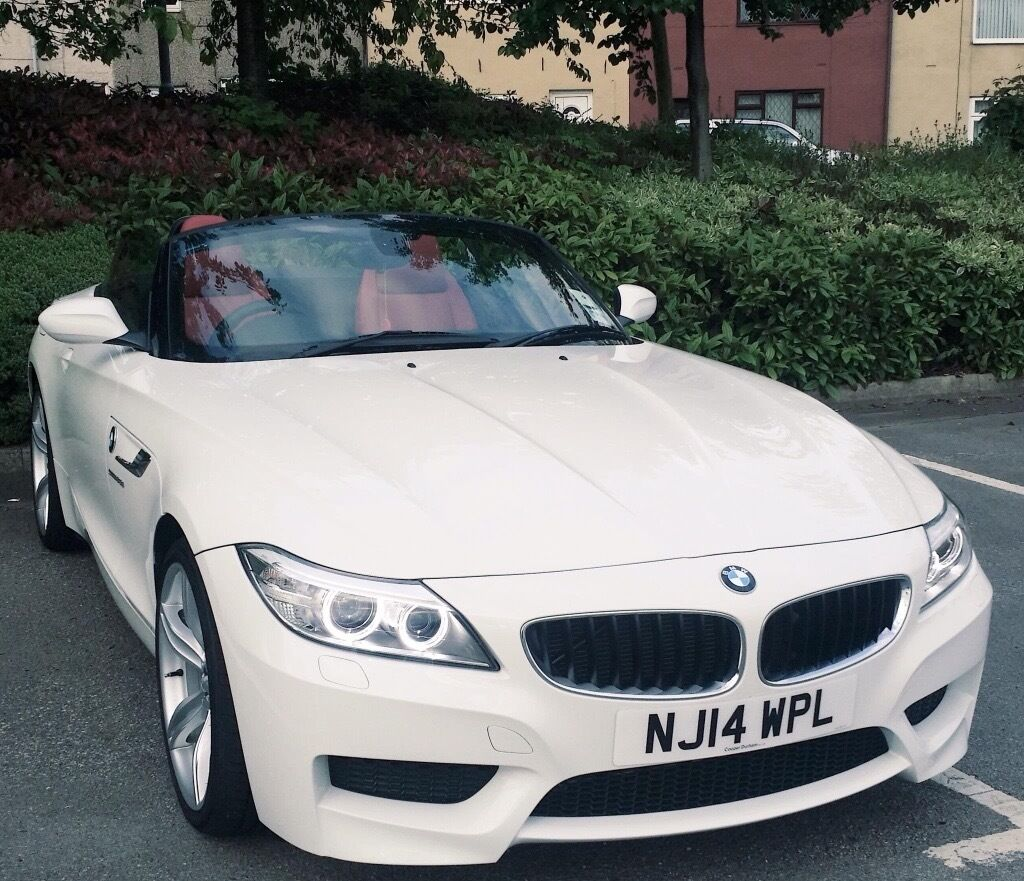 Bmw Z4 White With Red Leather Seats Single Lady Owner