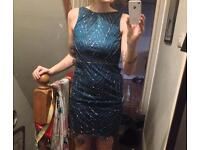 Frock and frill beaded turquoise dress 10