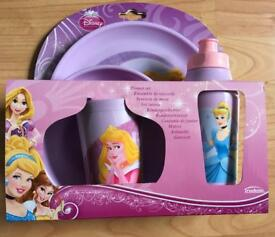 Disney princess children's 4 piece dinner set.