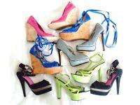 womens shoes sandals heels platform wedge all colours job lot bundle size UK 4