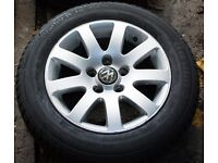"15"" Alloys x4 + spare VW Passat with new tyres (also Golf, Polo, Audi, etc.)"